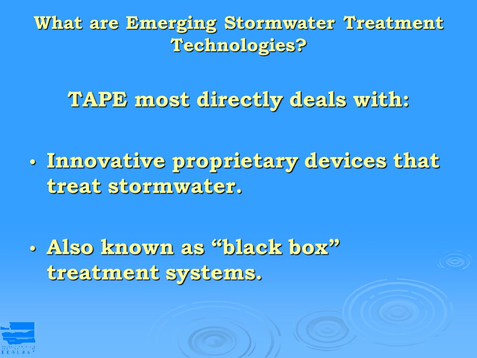 What are Emerging Stormwater Treatment Technologies