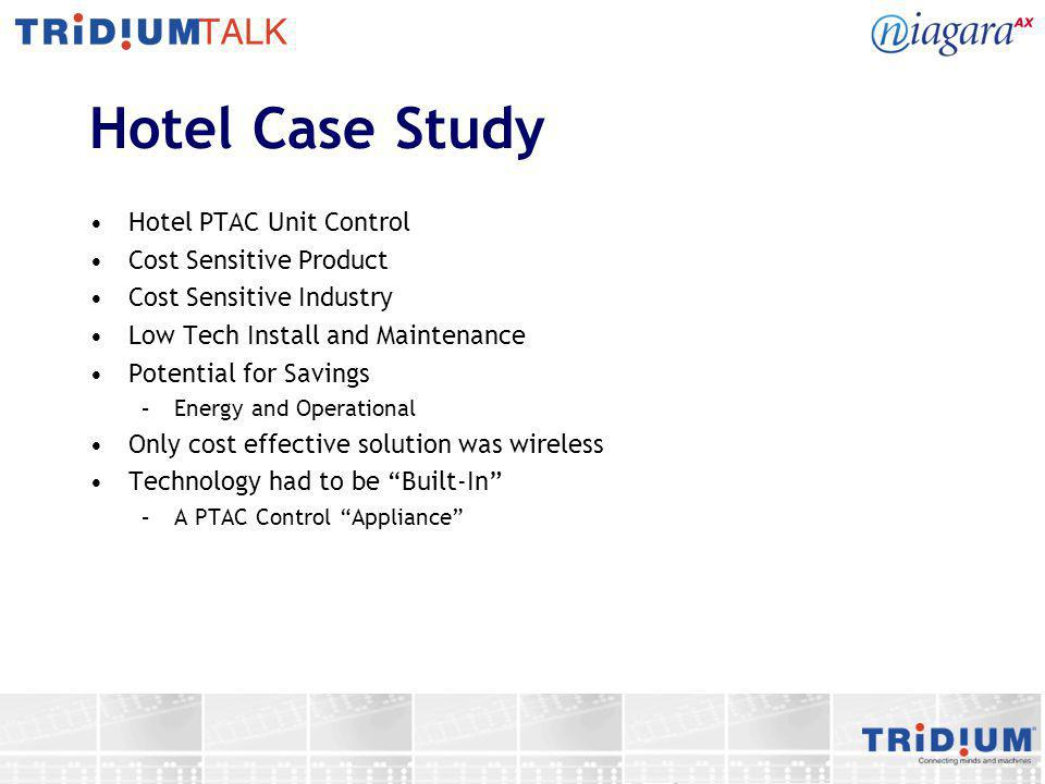 Hotel Case Study Hotel PTAC Unit Control Cost Sensitive Product