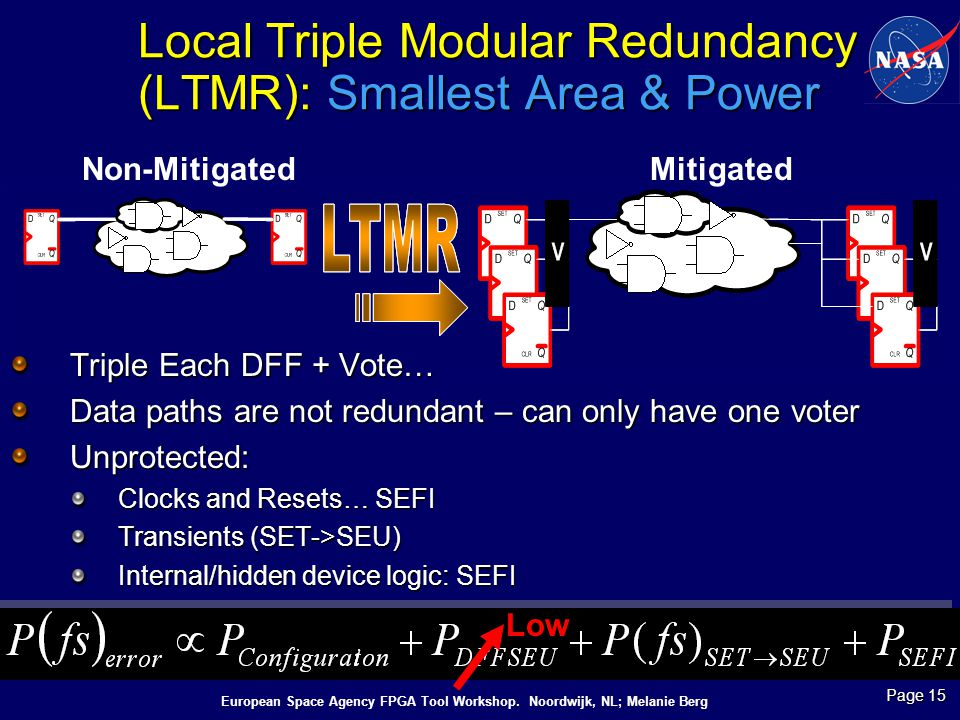 Local Triple Modular Redundancy (LTMR): Smallest Area & Power