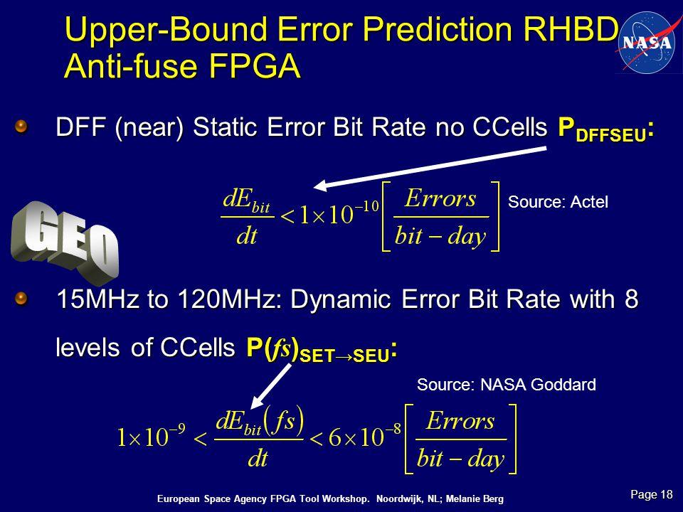 Upper-Bound Error Prediction RHBD Anti-fuse FPGA