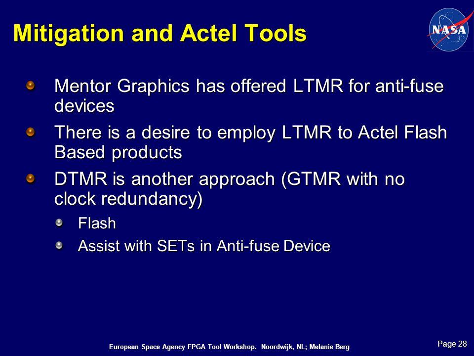 Mitigation and Actel Tools