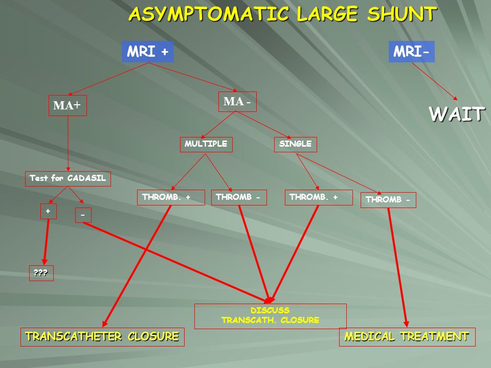 ASYMPTOMATIC LARGE SHUNT