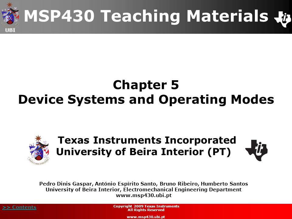 Chapter 5 Device Systems and Operating Modes