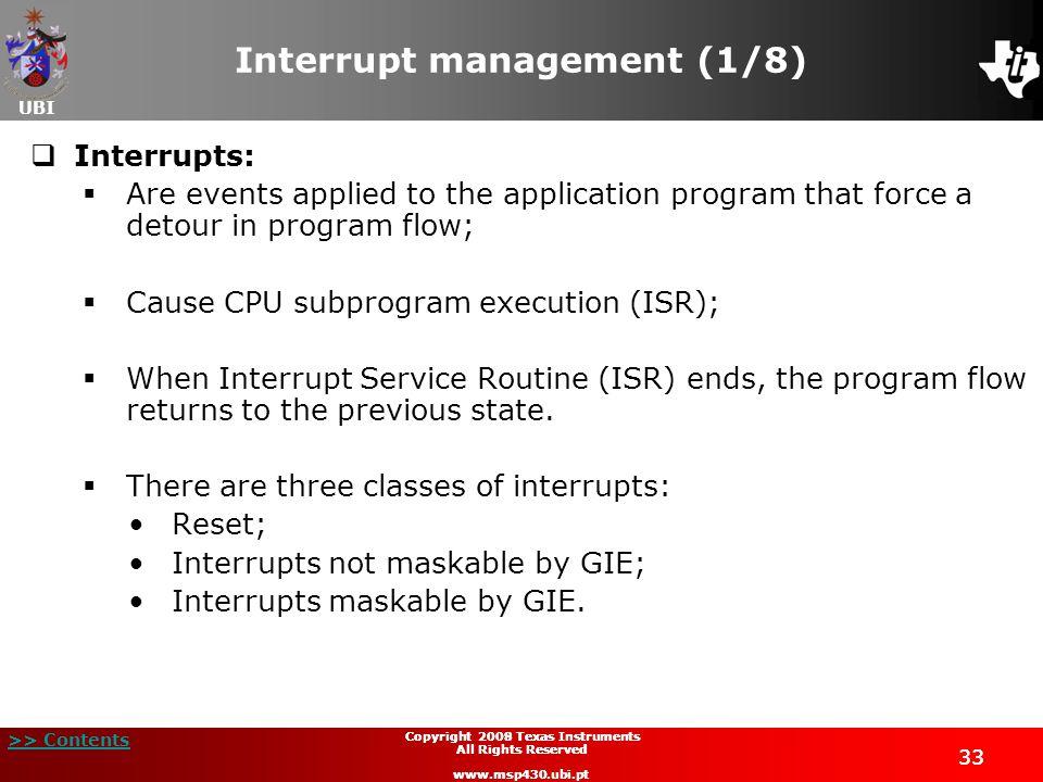 Interrupt management (1/8)