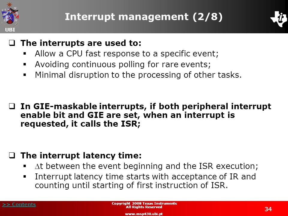 Interrupt management (2/8)