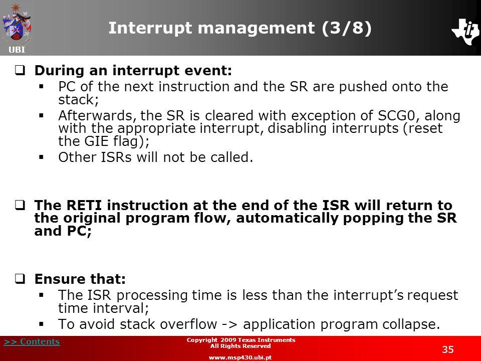 Interrupt management (3/8)