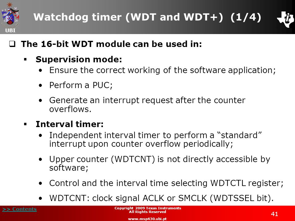 Watchdog timer (WDT and WDT+) (1/4)