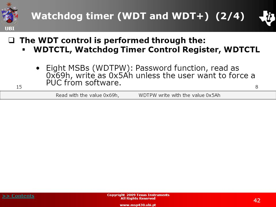 Watchdog timer (WDT and WDT+) (2/4)