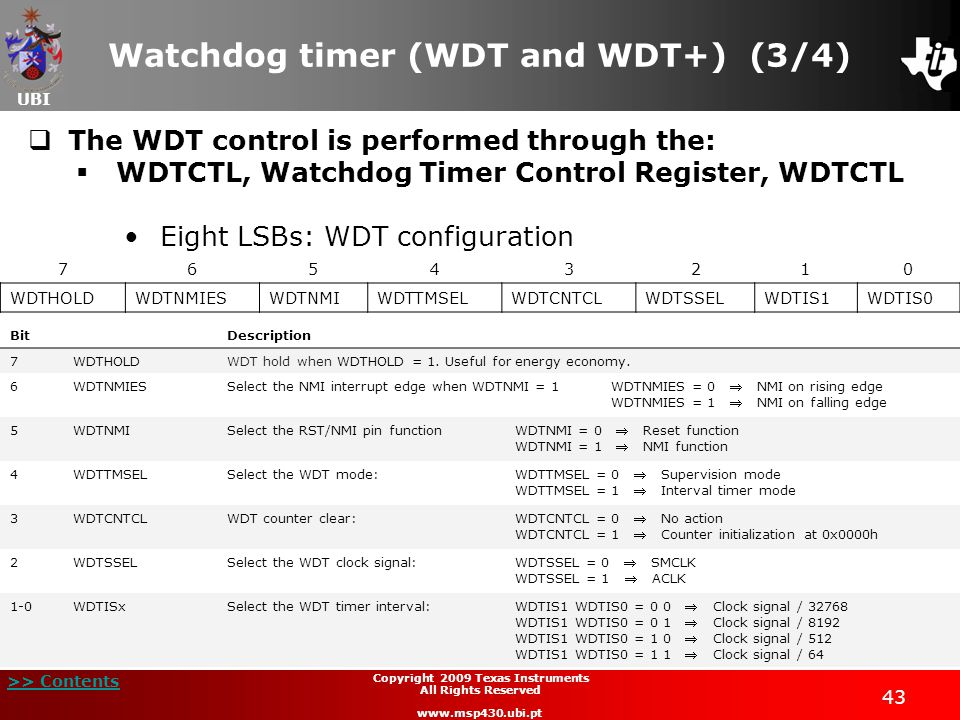 Watchdog timer (WDT and WDT+) (3/4)