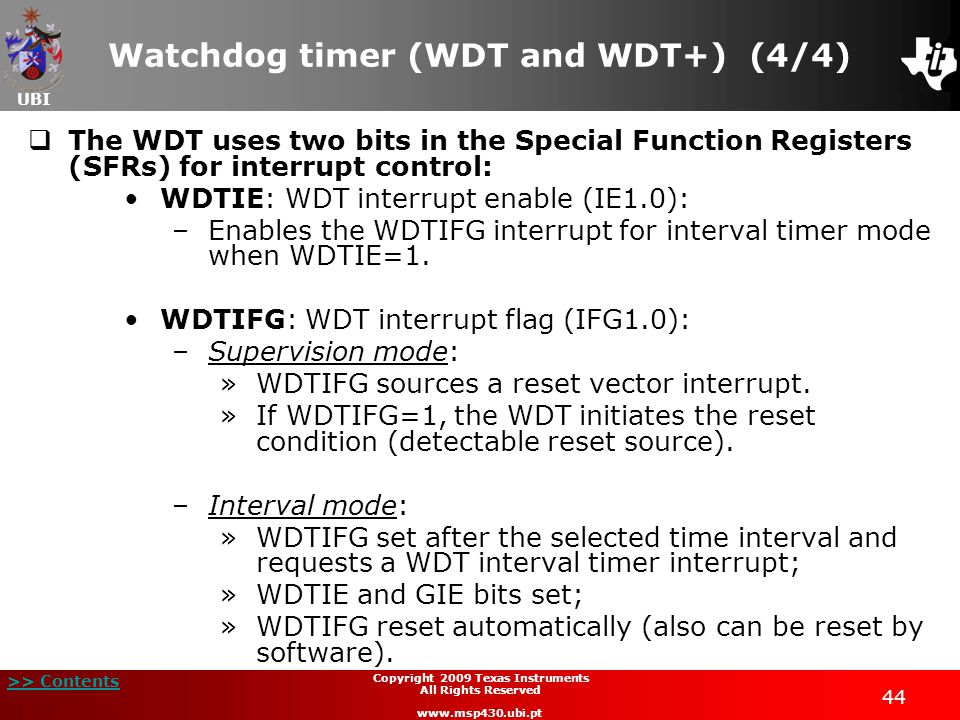 Watchdog timer (WDT and WDT+) (4/4)