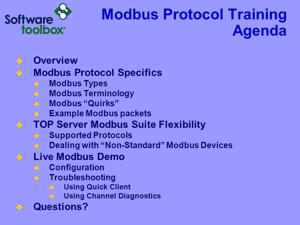 Modbus Protocol Training Agenda