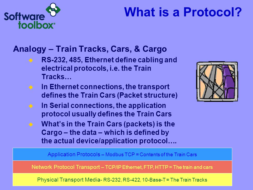 What is a Protocol Analogy – Train Tracks, Cars, & Cargo