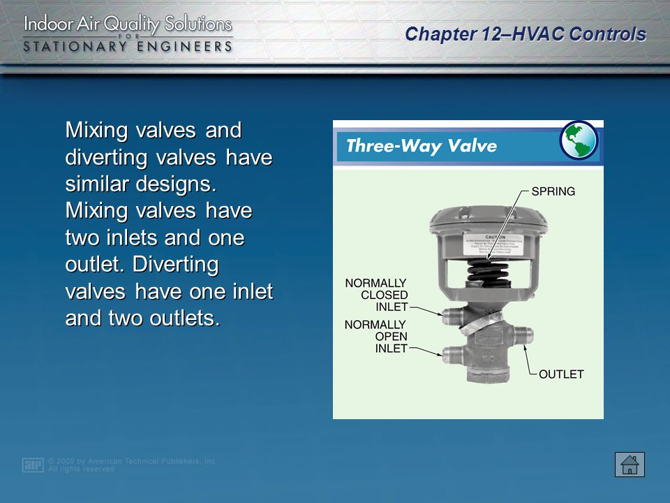 Mixing valves and diverting valves have similar designs