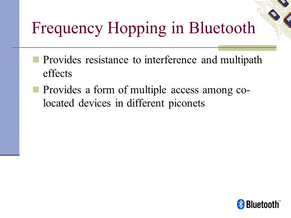 Frequency Hopping in Bluetooth