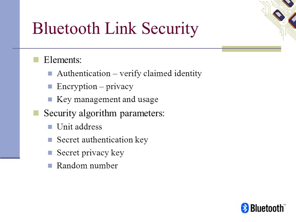 Bluetooth Link Security