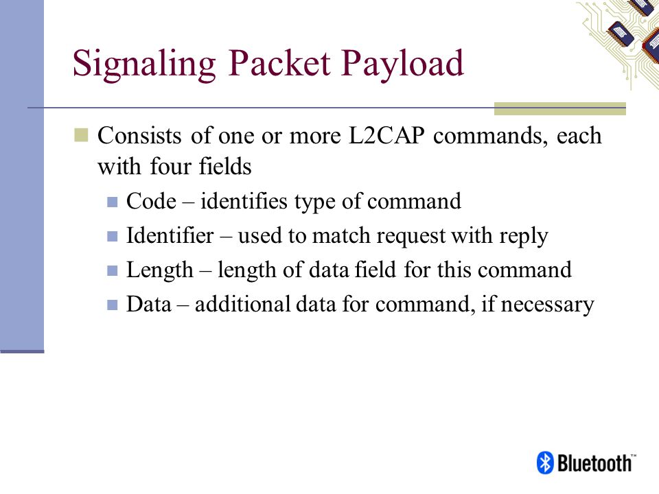 Signaling Packet Payload