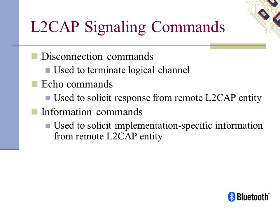 L2CAP Signaling Commands