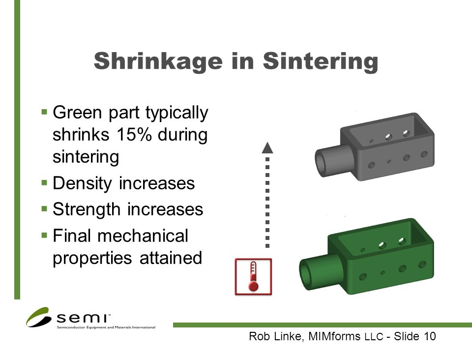 Shrinkage in Sintering
