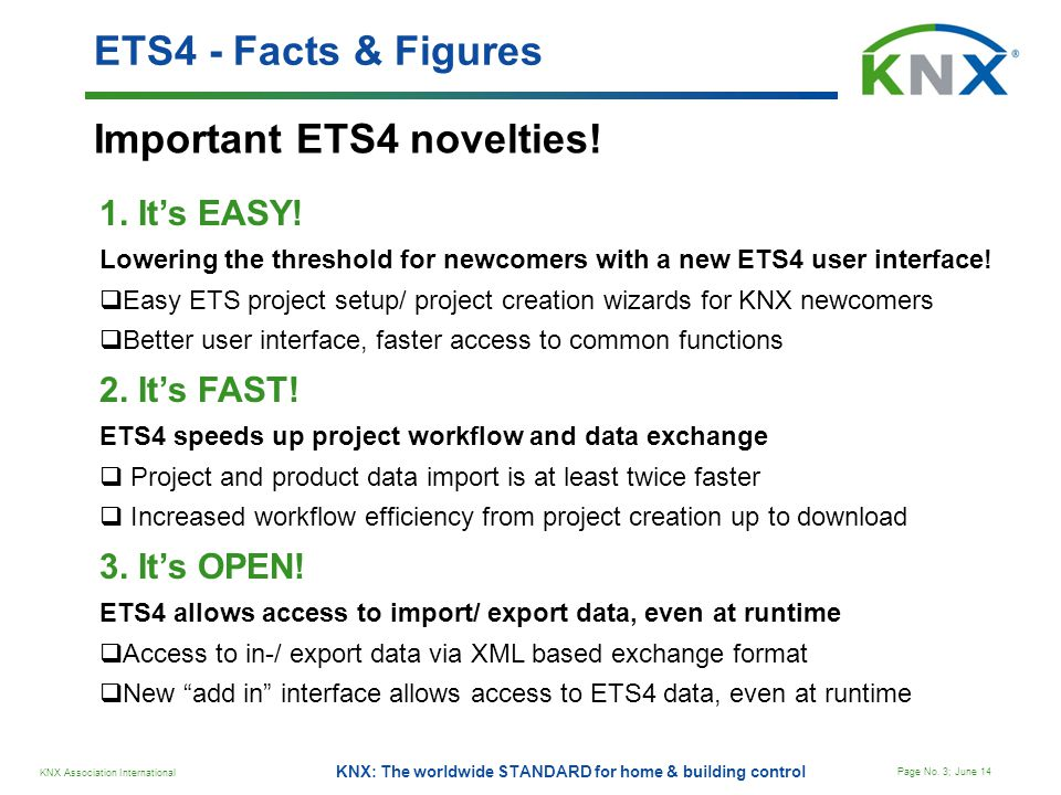 Important ETS4 novelties!