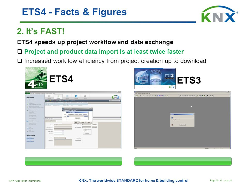ETS4 - Facts & Figures ETS4 ETS3 2. It's FAST!