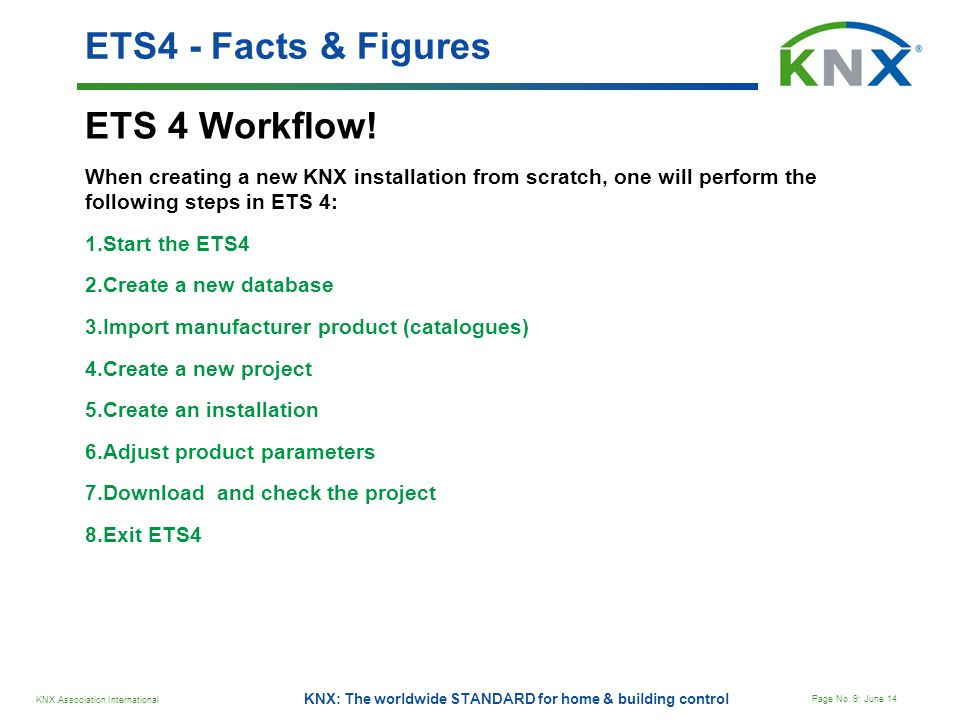 ETS4 - Facts & Figures ETS 4 Workflow!