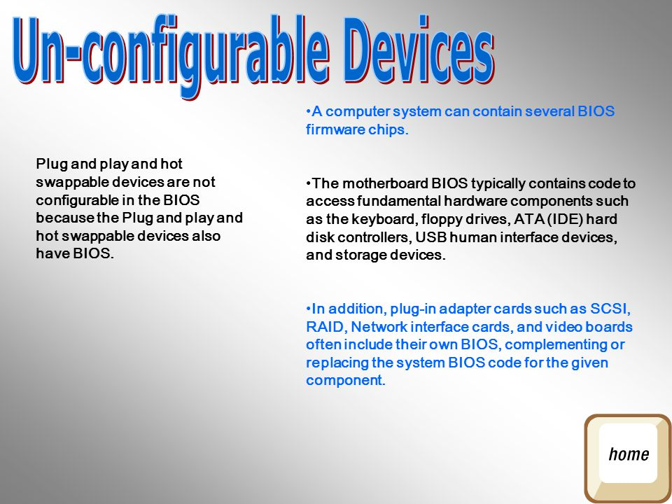 Un-configurable Devices