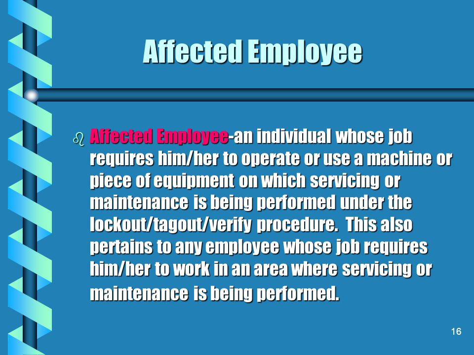 Affected Employee