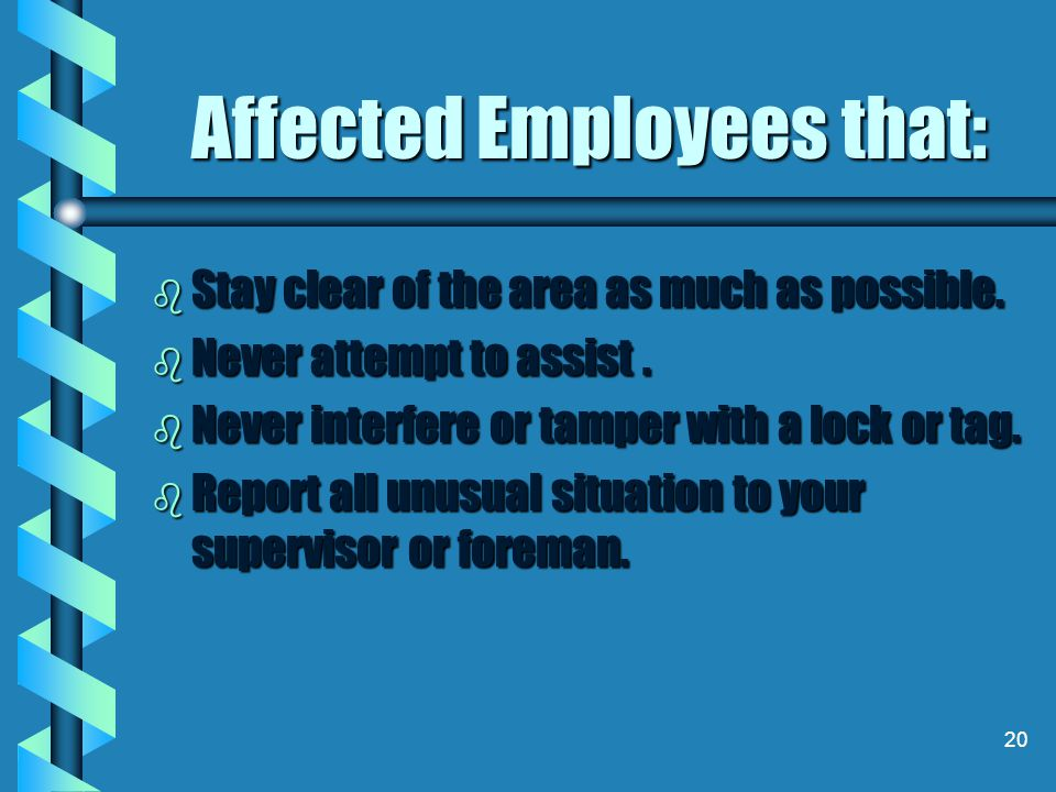 Affected Employees that: