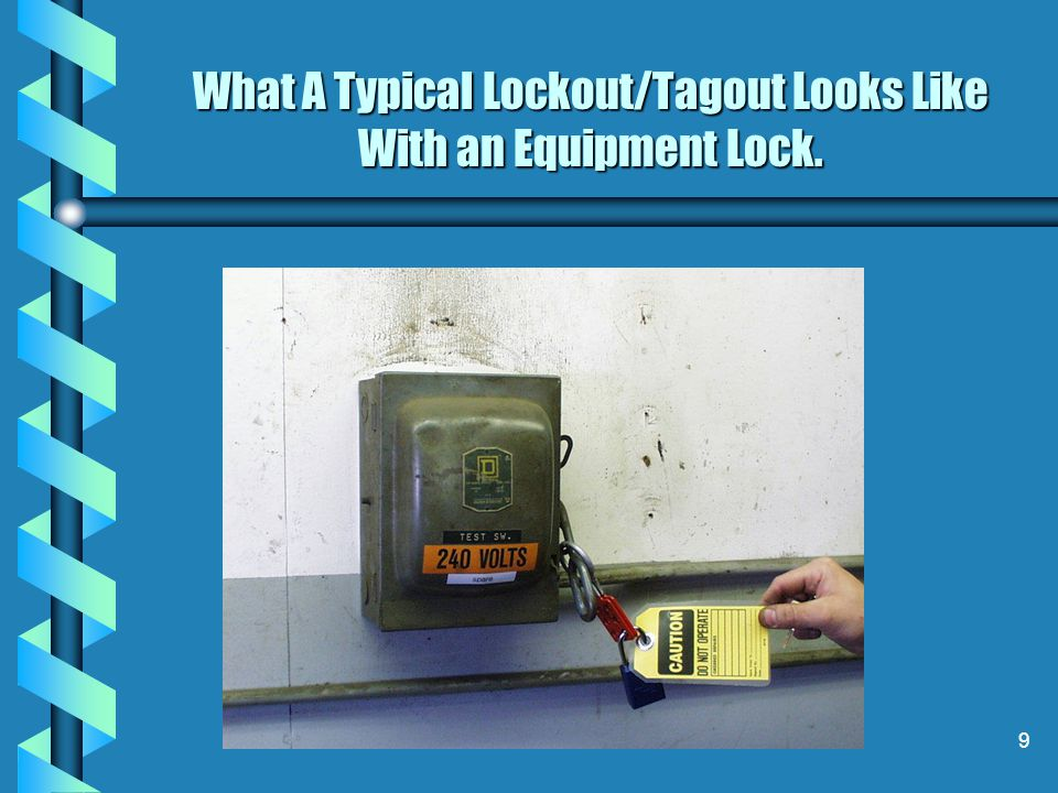 What A Typical Lockout/Tagout Looks Like With an Equipment Lock.