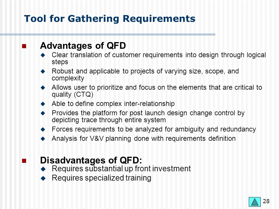 Tool for Gathering Requirements