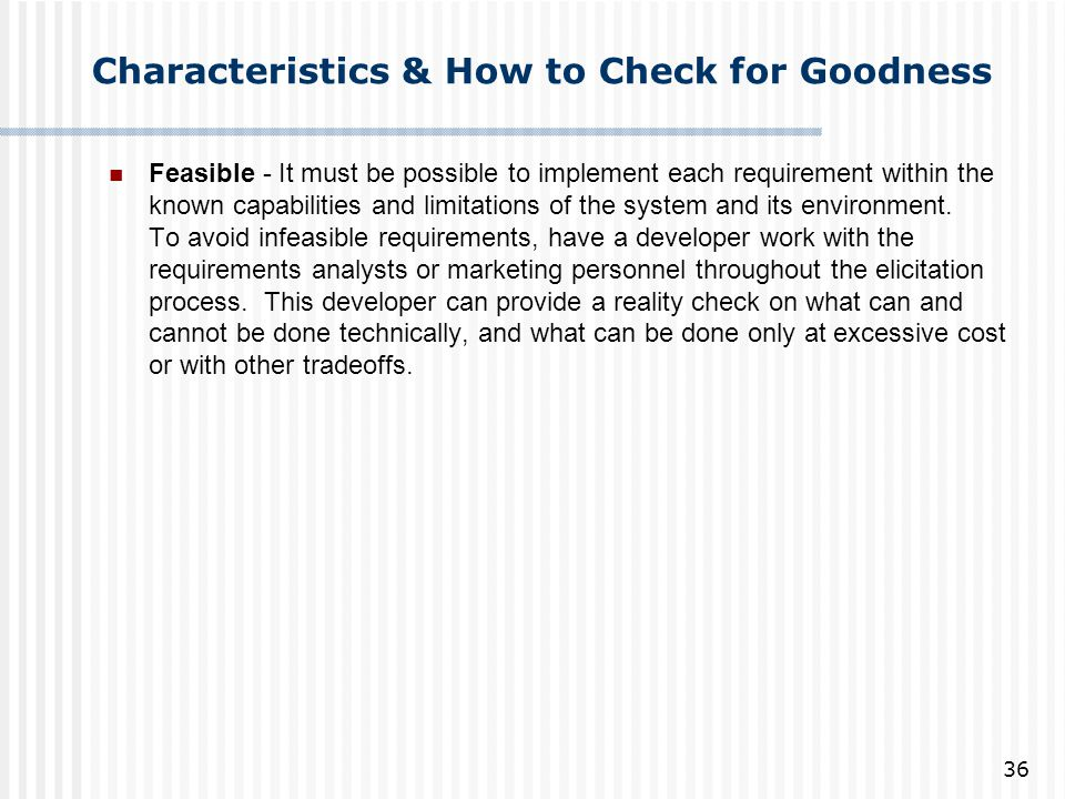 Characteristics & How to Check for Goodness