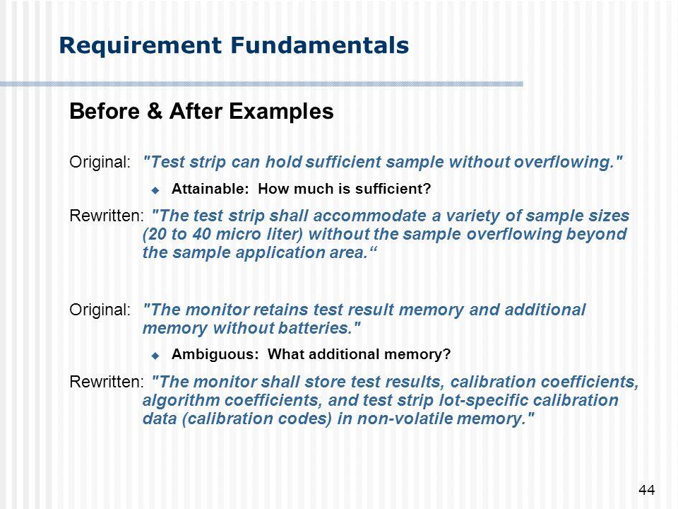 Requirement Fundamentals