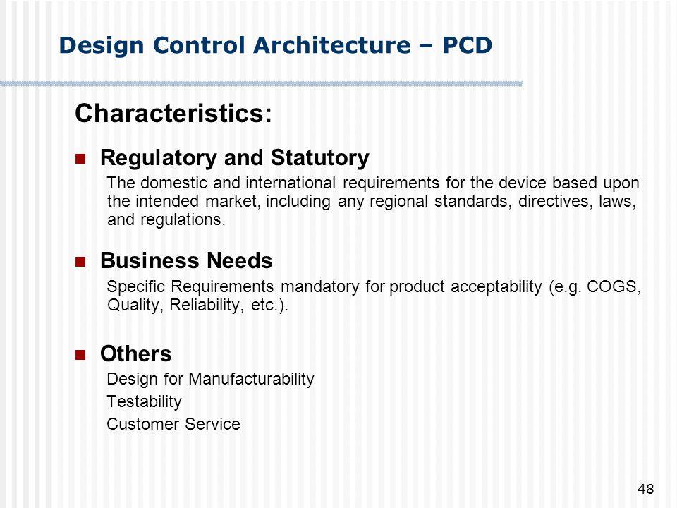 Design Control Architecture – PCD