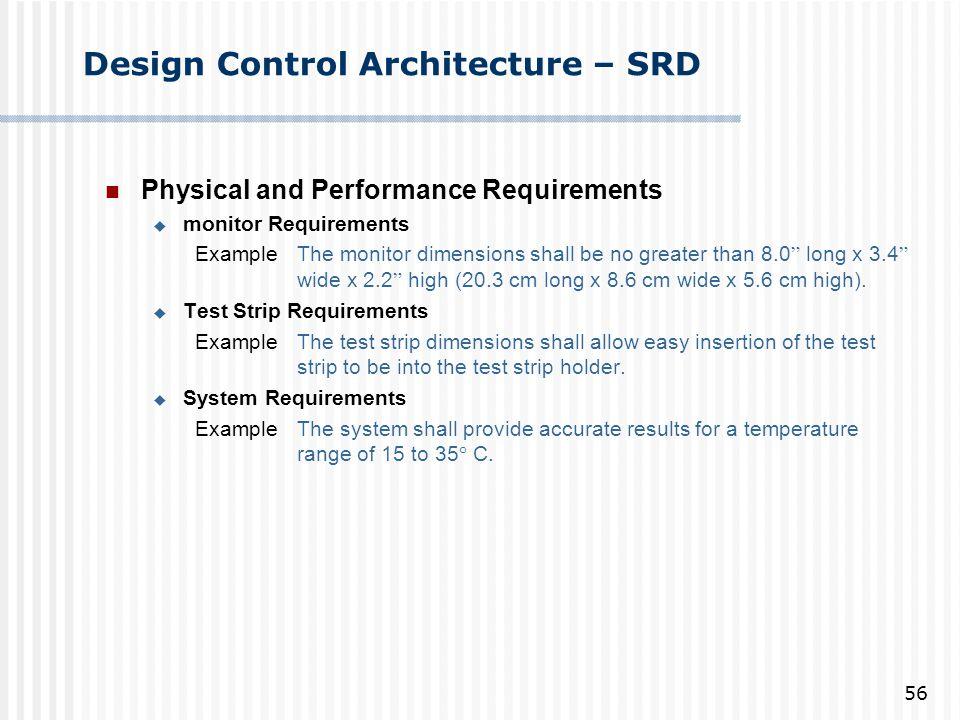 Design Control Architecture – SRD