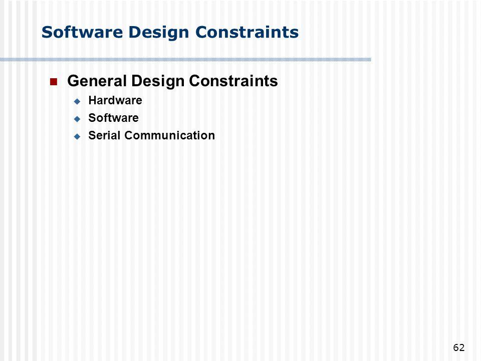 Software Design Constraints