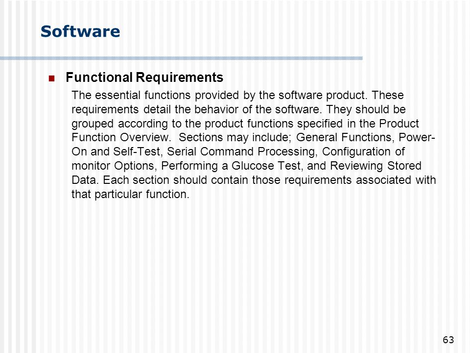 Software Functional Requirements