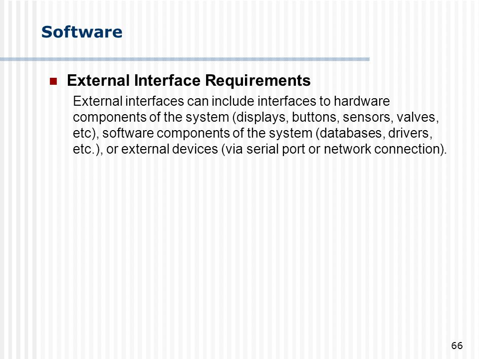 External Interface Requirements