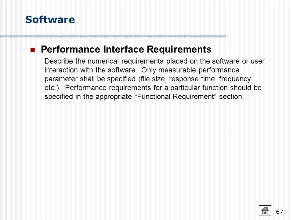 Performance Interface Requirements