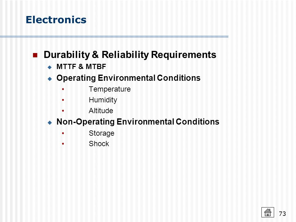 Durability & Reliability Requirements