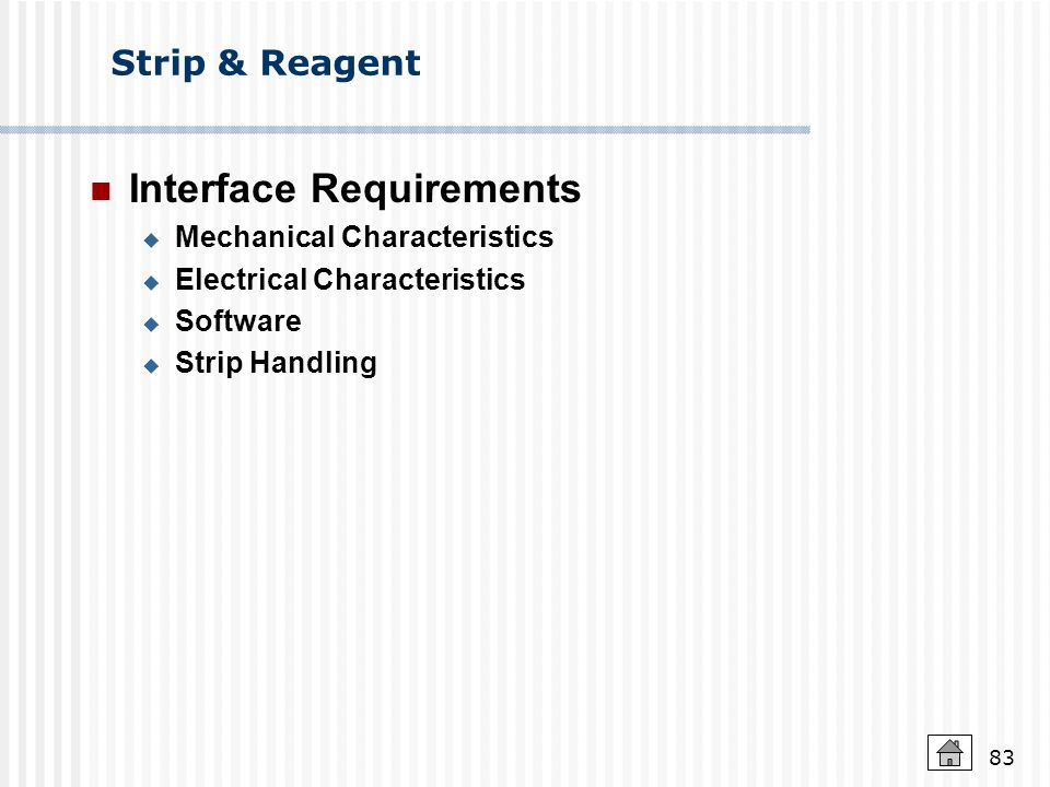 Interface Requirements