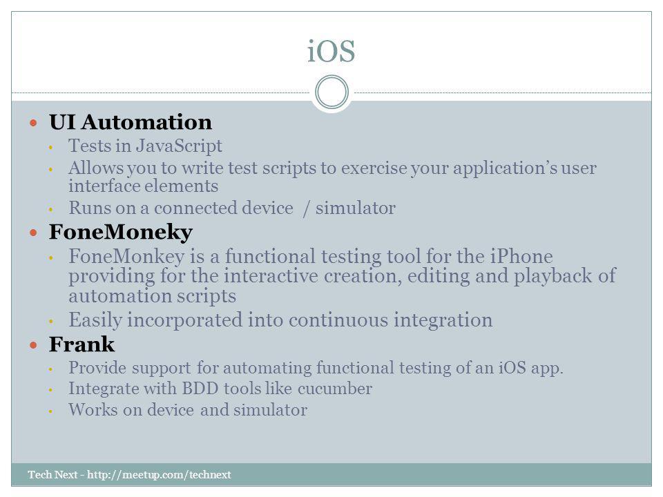 iOS UI Automation FoneMoneky Frank