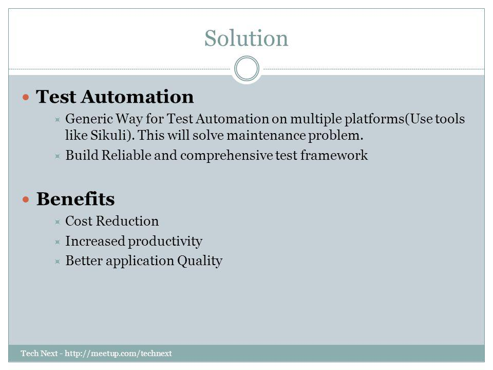 Solution Test Automation Benefits