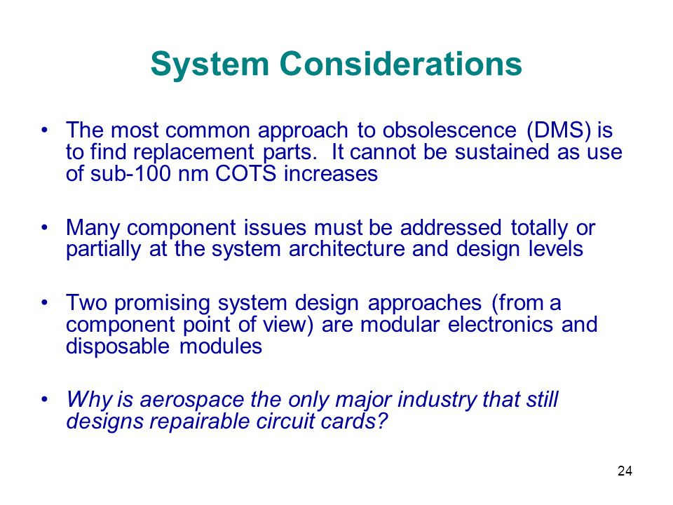 System Considerations