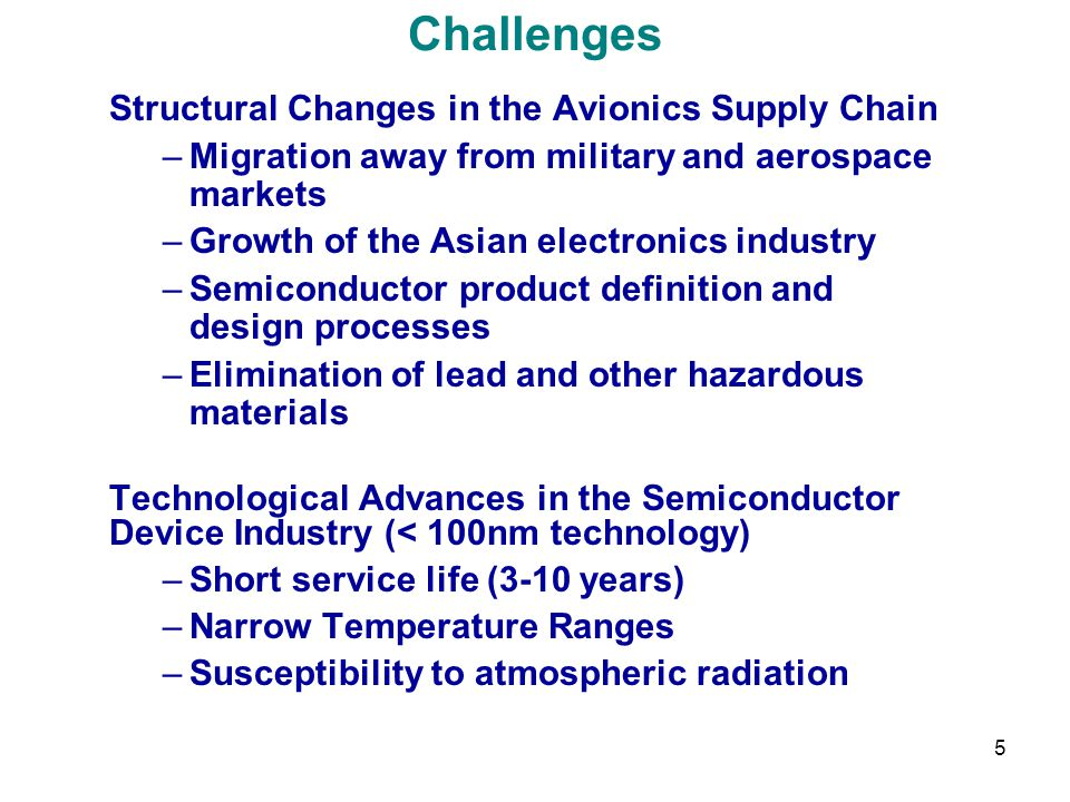 Challenges Structural Changes in the Avionics Supply Chain