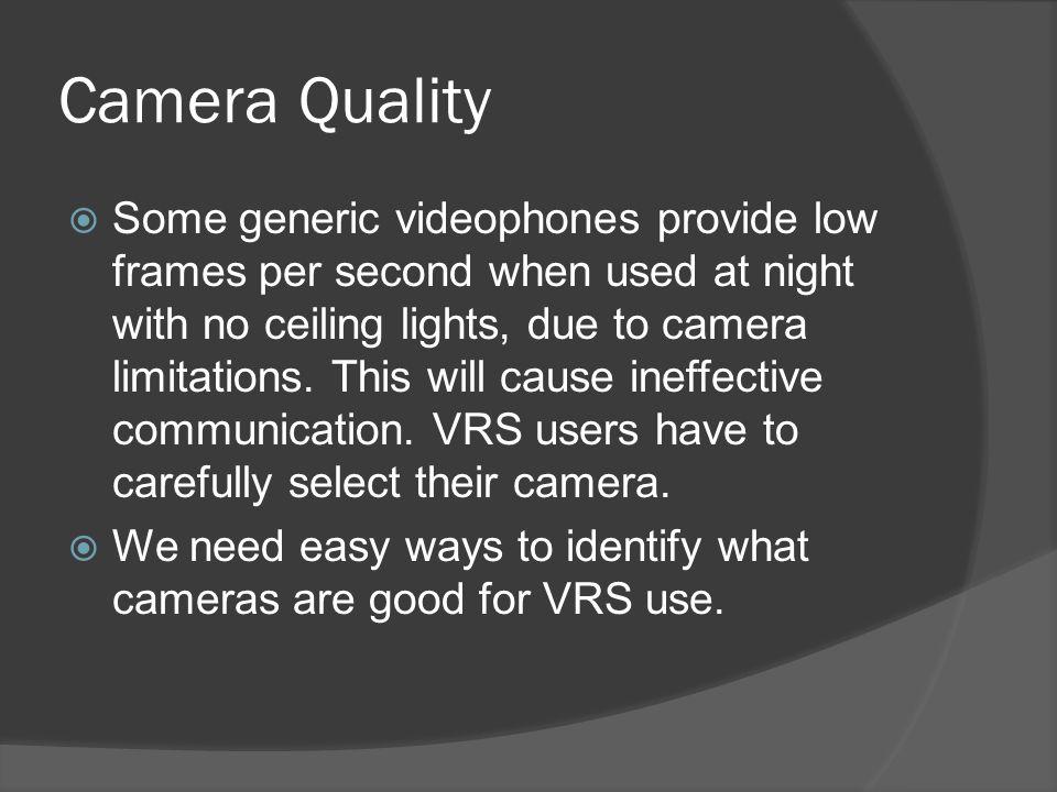 Camera Quality