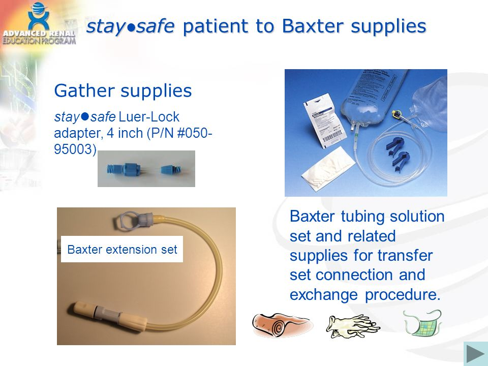 staysafe patient to Baxter supplies