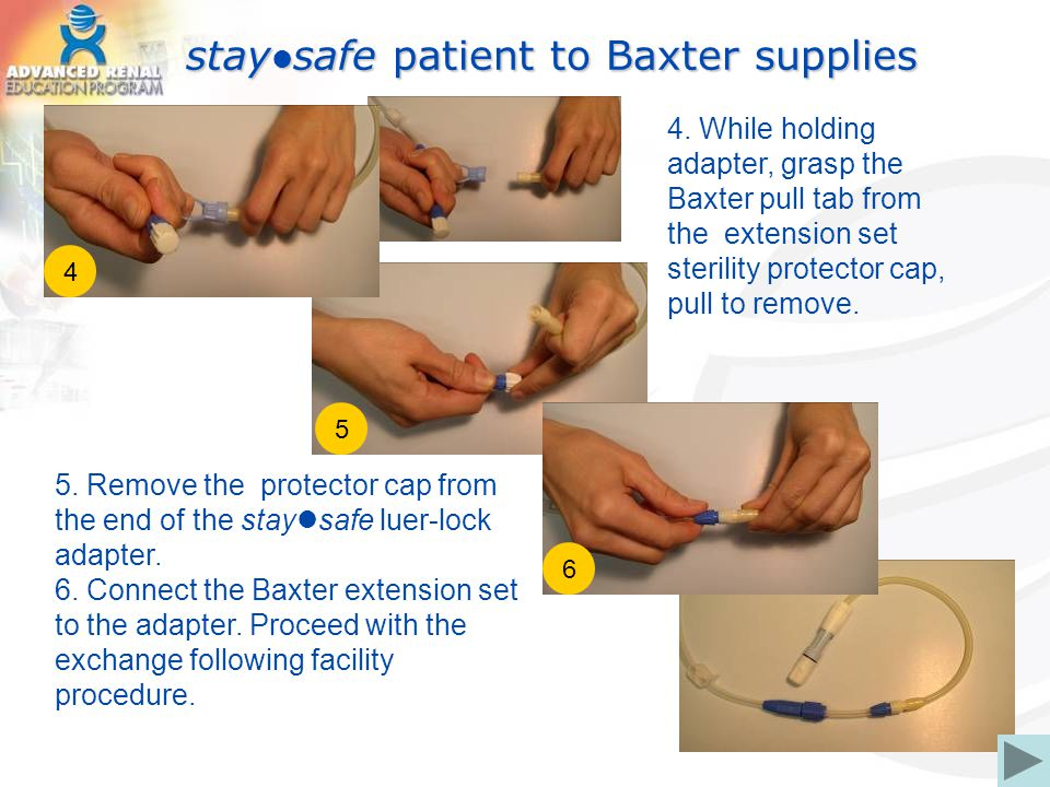 staysafe patient to Baxter supplies