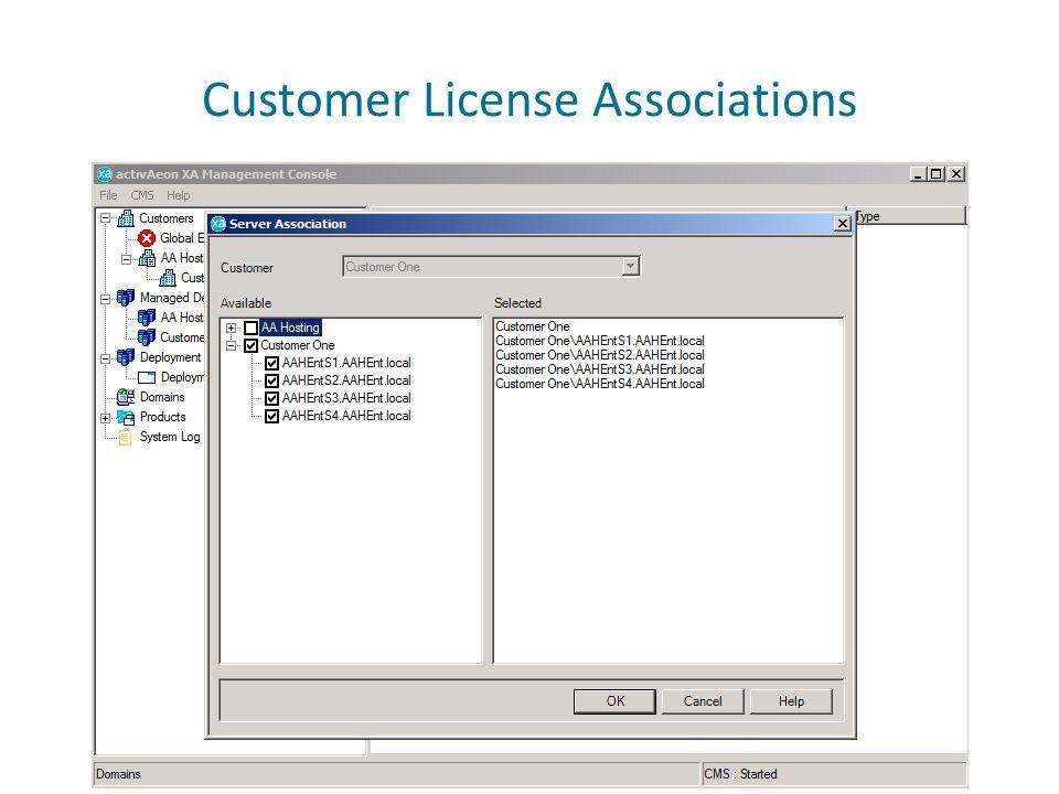 Customer License Associations