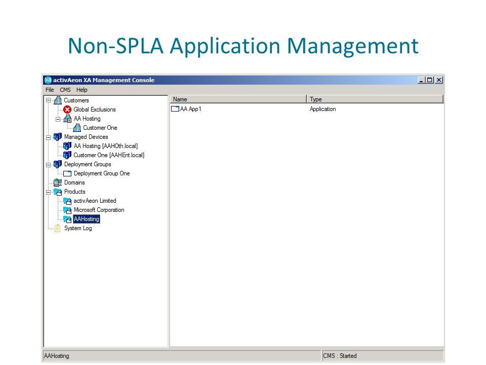 Non-SPLA Application Management