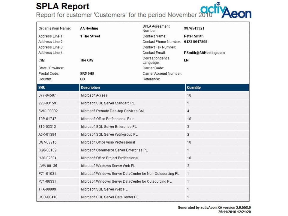 Microsoft License Usage Report
